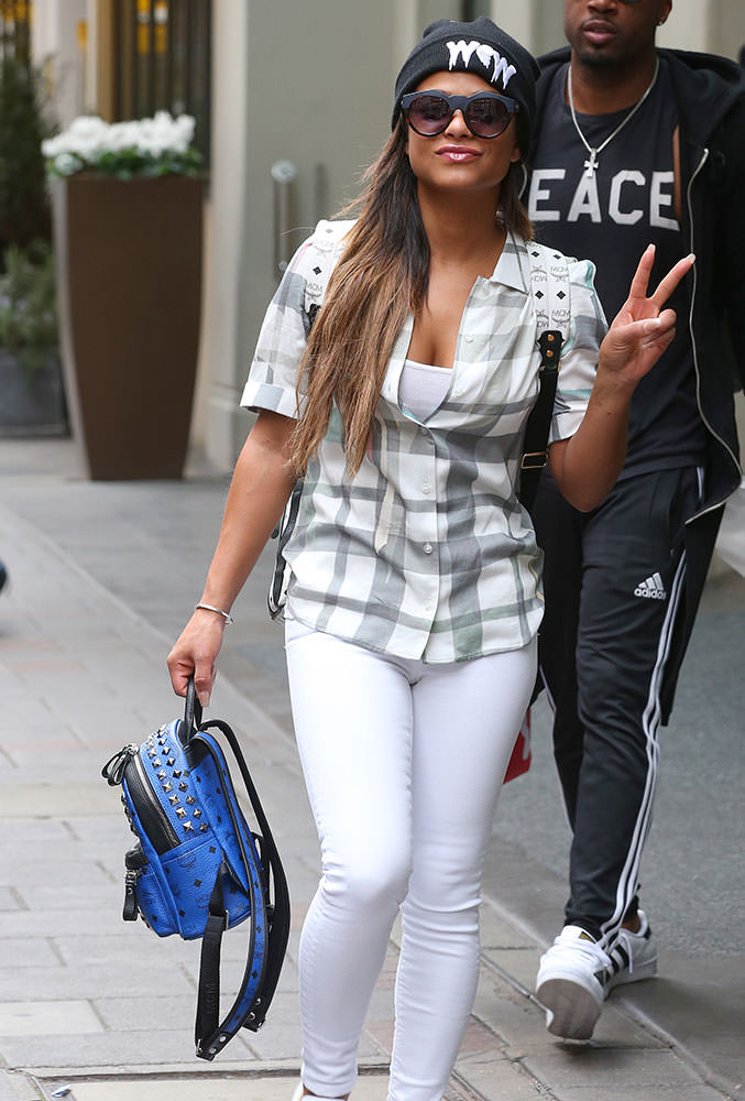 Christina-Milian-MCM-Studded-Mini-Backpack