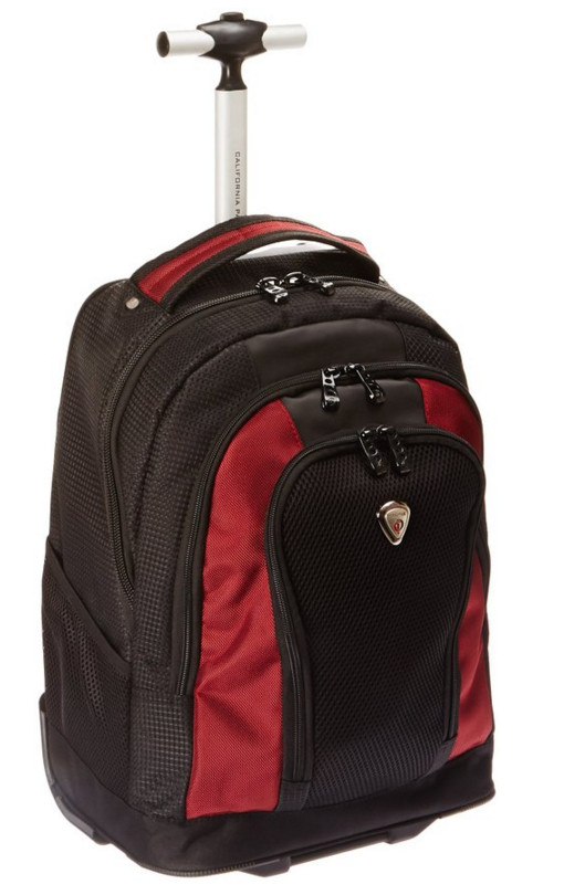 CalPak Winder 18-Inch Rolling Laptop Backpack