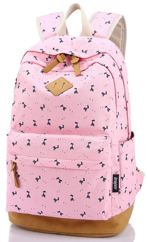 Leaper Lightweight Canvas Laptop Backpack Cute School bag