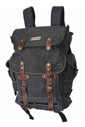 Eurosport WWII Black Canvas Backpack Bag