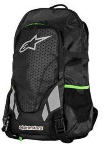 Alpinestars Roving Backpack - Black/Green 6100013-16