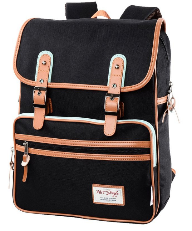 Hot Style Smile-Day Vintage Juniors Backpack (14.5L) - With Internal Padded 14 Inch Laptop Sleeve