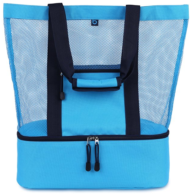 Malibu 2-in-1 Mesh Beach Bag with Cooler