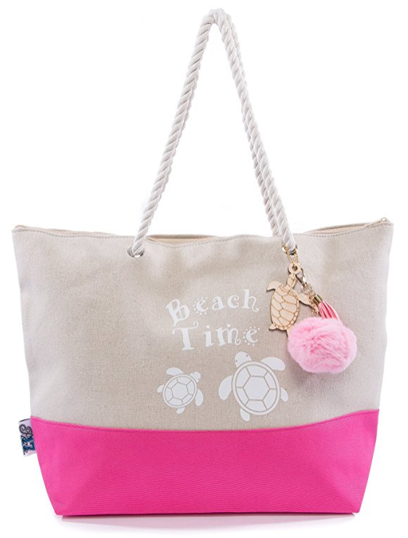 Pier 17 Canvas Beach Bag