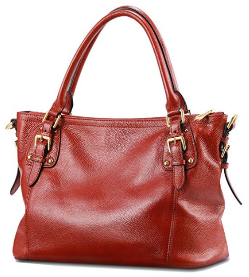 Kattee Womens Vintage Soft Leather Tote Shoulder