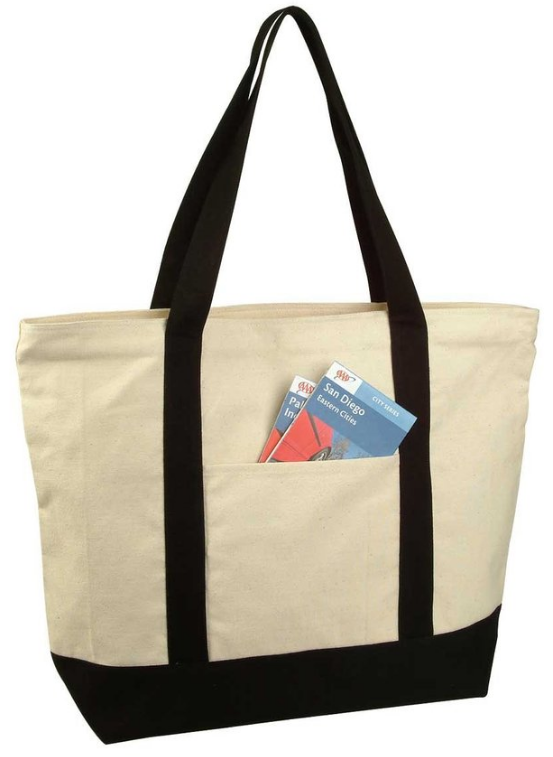 22 Heavy Duty Cotton Canvas Tote Bag by Dalix