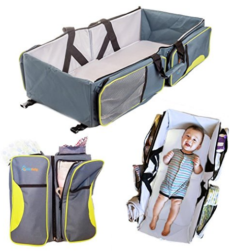 Travel Portable Bassinet- 3 in 1 Diaper Bag by Lullababy